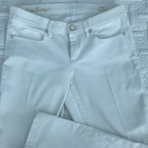Lilly Pulitzer South Ocean White Denim Crop Jeans